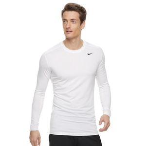 Nike Men's White Base Layer Dri-FIT Training Top
